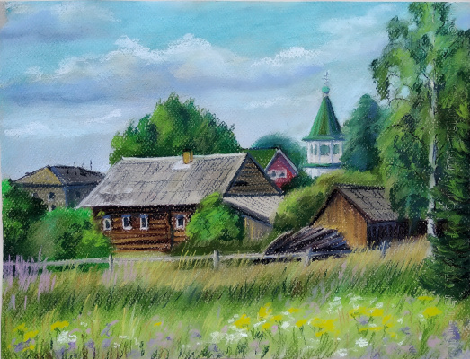 Irina Soboleva. July afternoon in the village