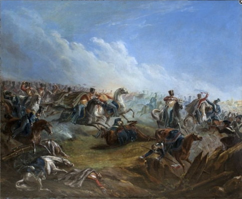 Mikhail Yurjevich Lermontov. Attack of the life guards hussars at Warsaw on August 26 1831