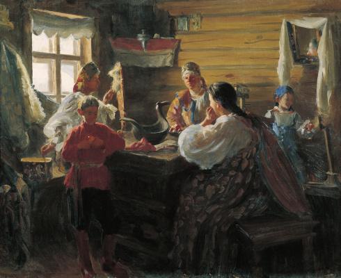 Иван Семенович Куликов. Зимним вечером. 1907