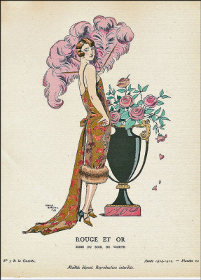 Georges Barbier. Red and gold