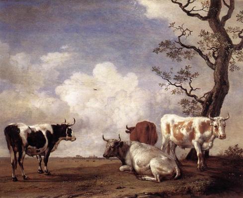 Paulus Potter. Cows