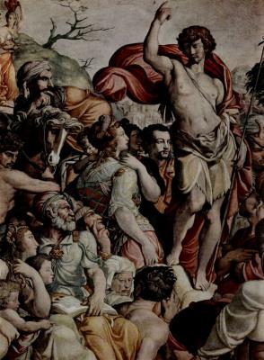 Якопо дель Конте. Проповедь Иоанна Крестителя, деталь