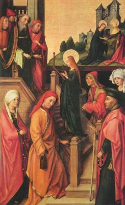Ганс  Старший Хольбейн. Вайнгартенский алтарь. Введение Марии во храм