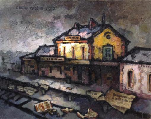 Oscar Yakovlevich Rabin. Abandoned train station of San Michele