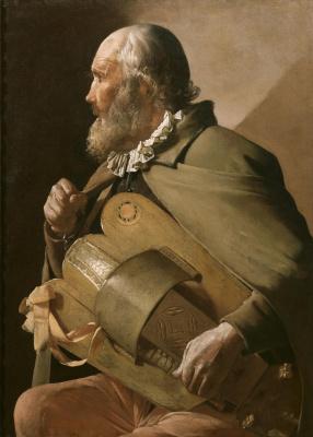 Georges de La Tour. Blind organ grinder