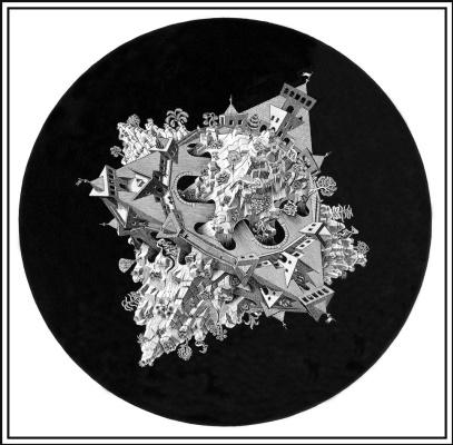 Мауриц Корнелис Эшер. Двойной планетоид