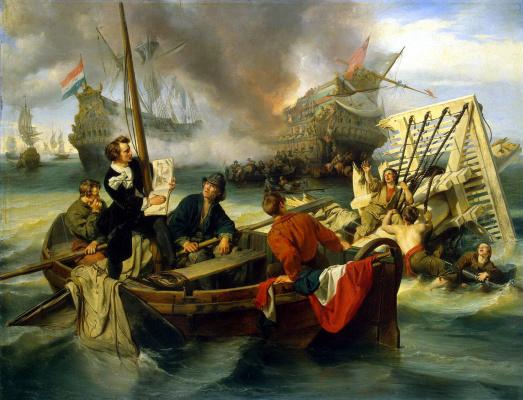 И. Дехой. Морское сражение