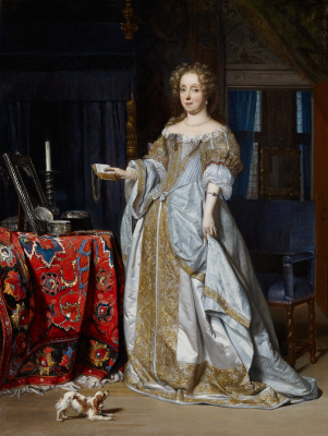 Gabrielle Metsu. Portrait of a lady. Lucia Wijbrans, the second wife of Jan Jacobs of Henlopen