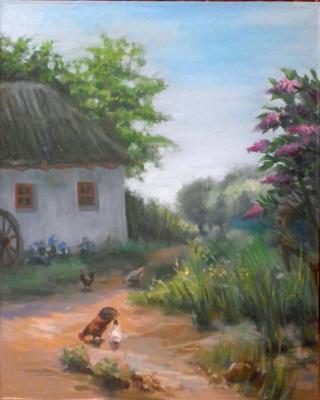 Stetskaya Alexandrovna Elena. Courtyard