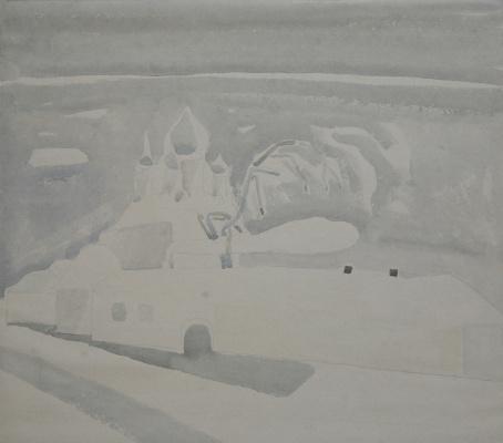 Mikhail Mikhailovich Kuznetsov. Suzdal series. Winter landscape