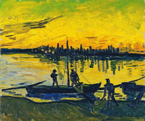 Vincent van Gogh. A coal barge