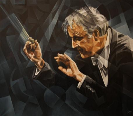 Vasily V. Krotkov. Maestro Carlos Kleiber. Post-kubofuturizm