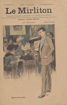 """Теофиль-Александр Стейнлен. Иллюстрация для журнала """"Мирлитон"""" № 74, август-сентябрь 1891 года"""