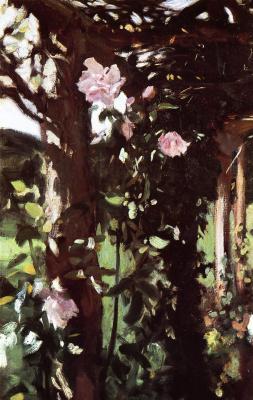 John Singer Sargent. Roses in Oxfordshire