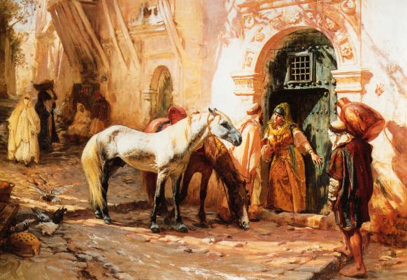 Frederick Arthur Bridgman. Scene in Morocco