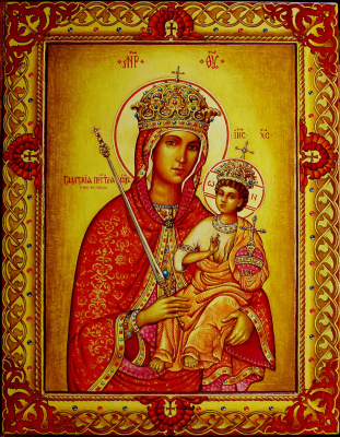 Valery Vasilyevich Litvinov. Icon of the Virgin of Galata