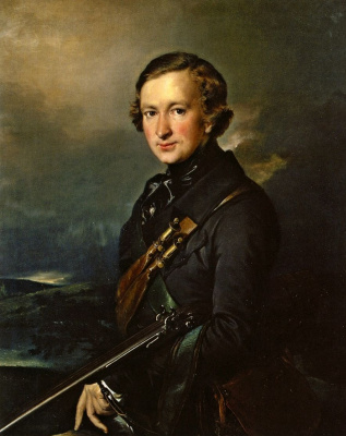 Vasily Andreevich Tropinin. Portrait of Y. F. Samarin in the hunting dress