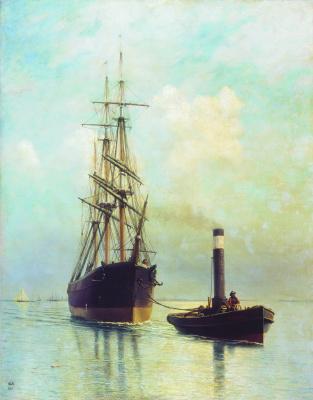 Лев Феликсович Лагорио. В Финском заливе. 1881