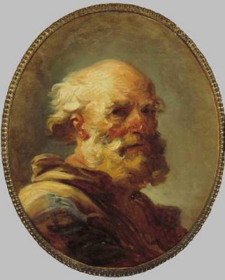 Jean Honore Fragonard. Portrait of an old man