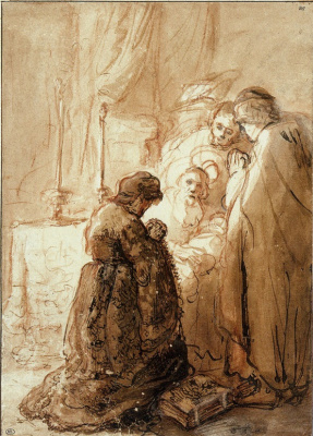 Jan Livens. The introduction of Christ into the temple