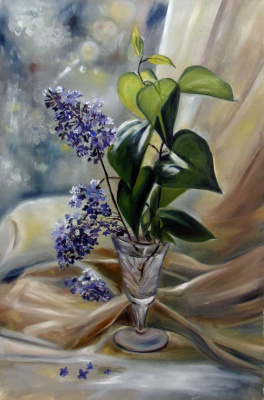"""Oil painting """"Lilac"""""""