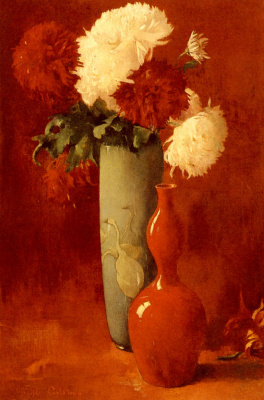 Эмиль Карлсен. Ваза и цветы