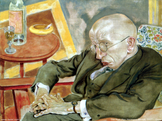 George Grosz. The man in glasses