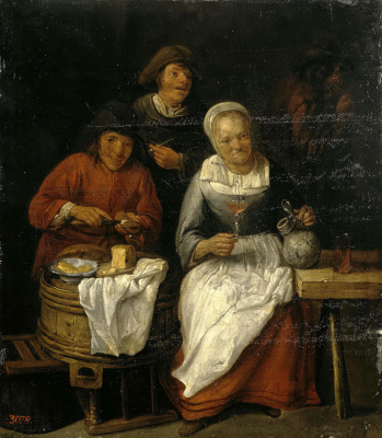 Гиллис ван Тильборх. Крестьяне за едой