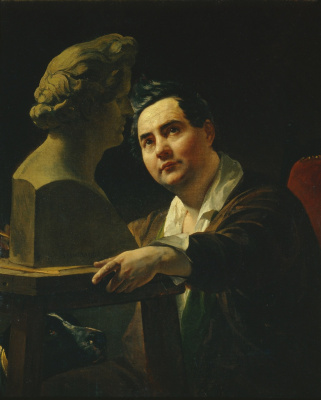 Karl Pavlovich Bryullov. Portrait of sculptor Ivan Vitali