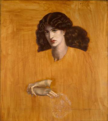 Dante Gabriel Rossetti. The woman in the window. Unfinished version of the painting