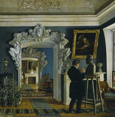 Карл-Фридрих Петрович Бодри Россия 1812 - 1894. Sculptor Ivan Petrovich Vitali at work. 1841