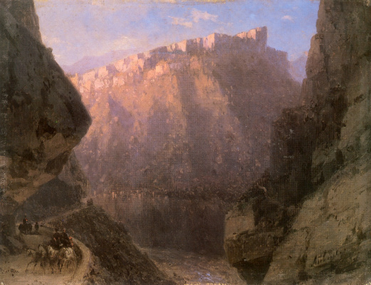 Ivan Aivazovsky. Dariali gorge