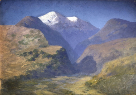Arkhip Ivanovich Kuindzhi. Snow-capped mountains. The Caucasus
