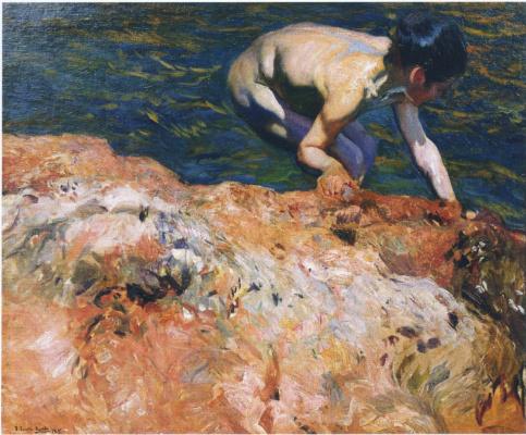 Хоакин Соролья (Соройя). Поиск моллюсков