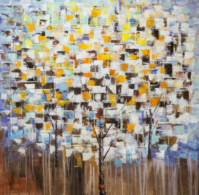 Кристина Виверс. Деревья. Осенний снег