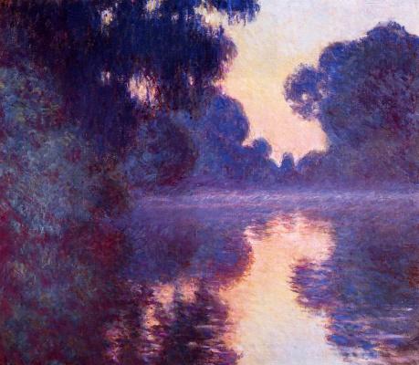 Восход солнца и Сена рядом с Живерни