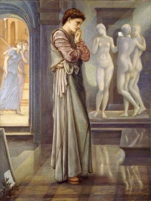 Edward Coley Burne-Jones. Pygmalion and Galatea I: The Heart is Thirsty