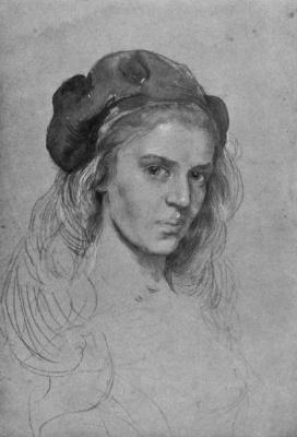 Elena Konstantinovna Luksh-Makovskaya. Self-portrait
