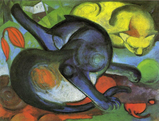 Franz Marc. Two cats