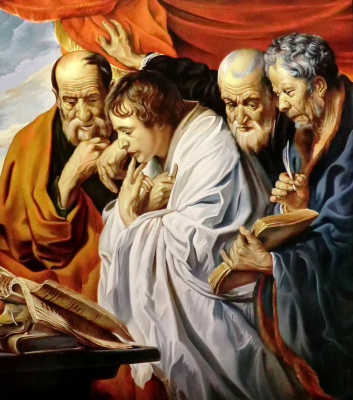 Valery Vasilyevich Litvinov. Four Evangelists (copy of Jordaens)