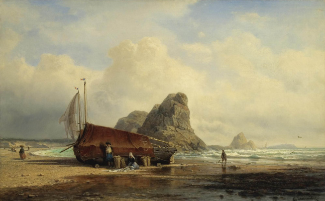 Alexey Petrovich Bogolyubov. Scene on the coast, Brittany