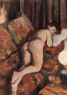 Эдгар Дега. Обнаженная на диване