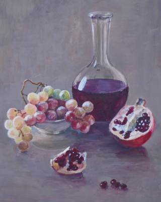Igor Lemekhov. Still Life with Pomegranate
