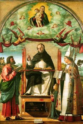 Витторе Карпаччо. Св. Фома в славе между Св. Марком и Св. Луисом