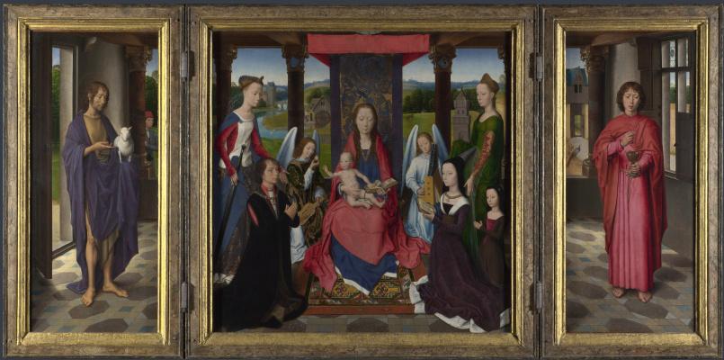 Hans Memling. Triptych Donna