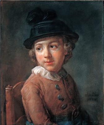 Jean Baptiste Simeon Chardin. Portrait of a boy