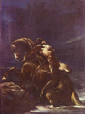 Théodore Géricault. Death of Mazepa