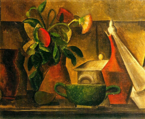 Pablo Picasso. Still life with bouquet of flowers