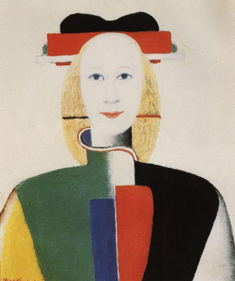 Kazimir Malevich. Girl with a comb in the hair