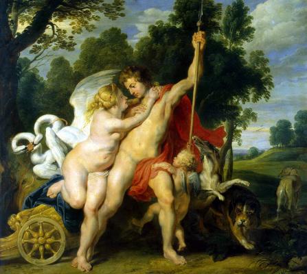 Peter Paul Rubens. Venus and Adonis